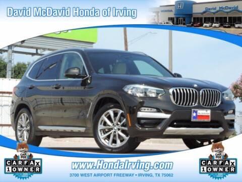 2019 BMW X3 for sale at DAVID McDAVID HONDA OF IRVING in Irving TX