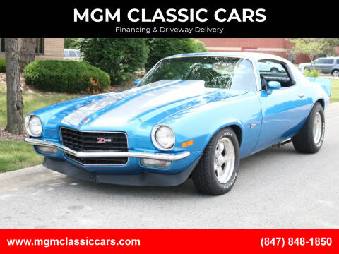 1972 Chevrolet Camaro for sale at MGM CLASSIC CARS-New Arrivals in Addison IL