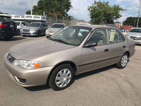 2002 Toyota Corolla for sale at Cartina in Tampa FL