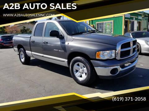 2002 Dodge Ram Pickup 1500 for sale at A2B AUTO SALES in Chula Vista CA