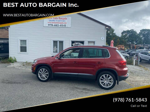 2013 Volkswagen Tiguan for sale at BEST AUTO BARGAIN inc. in Lowell MA