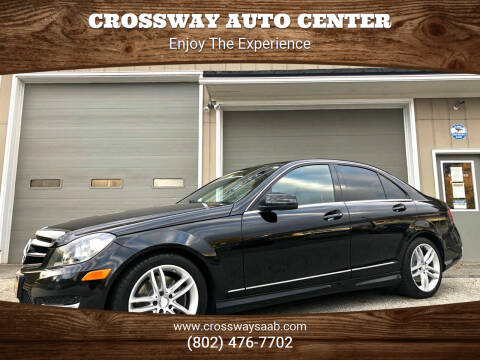 2014 Mercedes-Benz C-Class for sale at CROSSWAY AUTO CENTER in East Barre VT