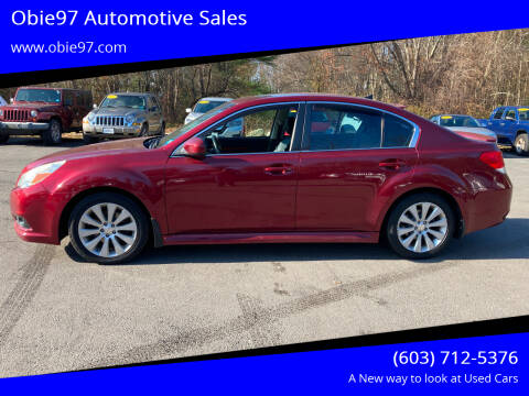2011 Subaru Legacy for sale at Obie97 Automotive Sales in Londonderry NH