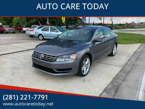 2015 Volkswagen Passat for sale at AUTO CARE TODAY in Spring TX