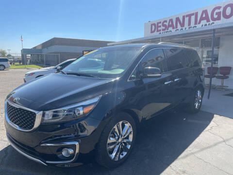 2016 Kia Sedona for sale at DESANTIAGO AUTO SALES in Yuma AZ