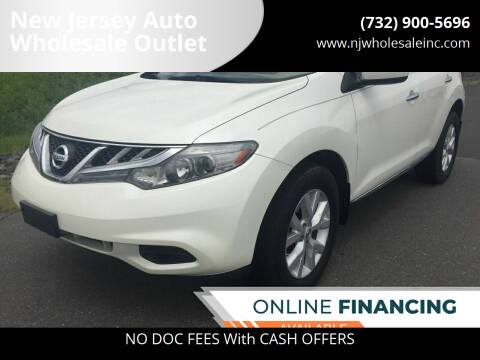 2012 Nissan Murano for sale at New Jersey Auto Wholesale Outlet in Union Beach NJ