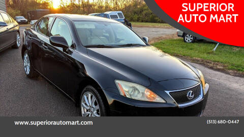 2007 Lexus IS 250 for sale at SUPERIOR AUTO MART in Amelia OH