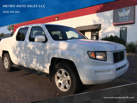 2008 Honda Ridgeline for sale at METRO AUTO SALES LLC in Blaine MN