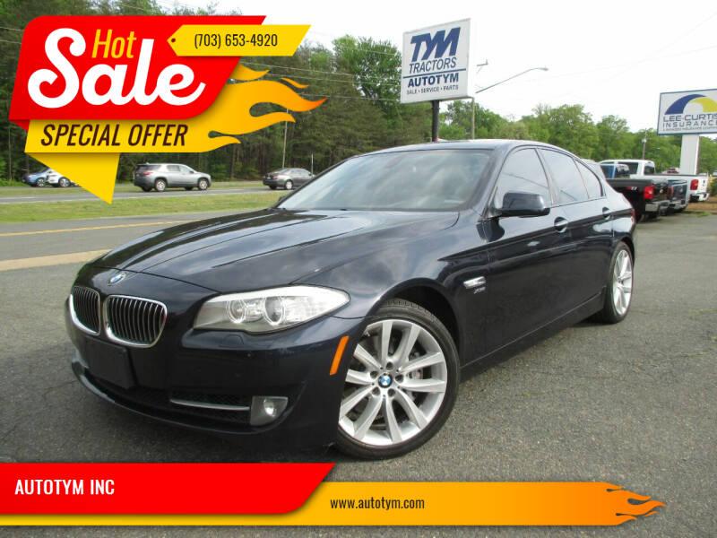 2011 BMW 5 Series for sale at AUTOTYM INC in Fredericksburg VA