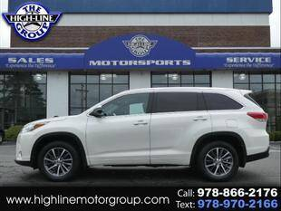 2017 Toyota Highlander for sale at Highline Group Motorsports in Lowell MA