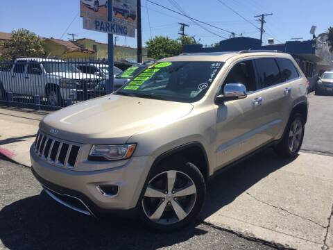 2014 Jeep Grand Cherokee for sale at 2955 FIRESTONE BLVD in South Gate CA
