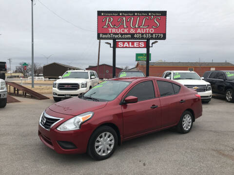 2017 Nissan Versa for sale at RAUL'S TRUCK & AUTO SALES, INC in Oklahoma City OK