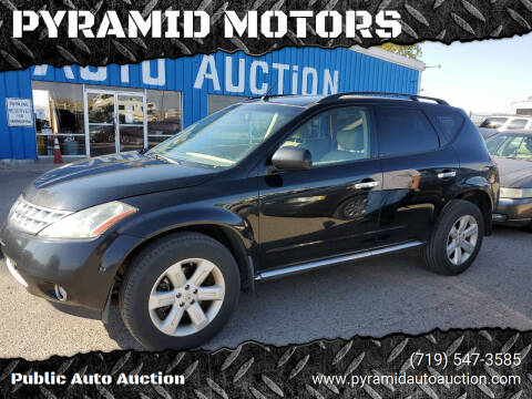 2007 Nissan Murano for sale at PYRAMID MOTORS - Pueblo Lot in Pueblo CO