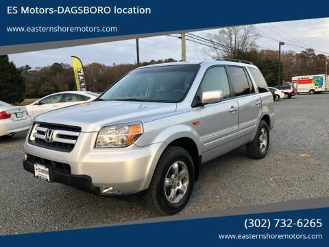 2008 Honda Pilot for sale at ES Motors-DAGSBORO location in Dagsboro DE