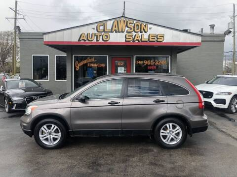 2010 Honda CR-V for sale at Clawson Auto Sales in Clawson MI