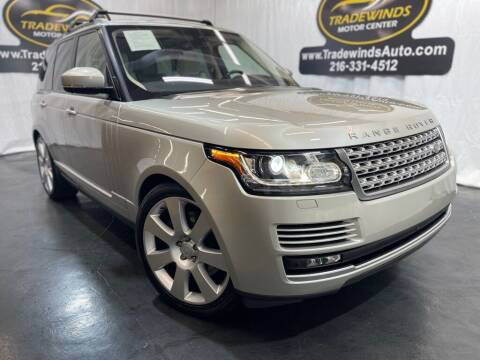 2016 Land Rover Range Rover for sale at TRADEWINDS MOTOR CENTER LLC in Cleveland OH