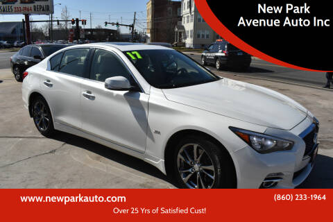 2017 Infiniti Q50 for sale at New Park Avenue Auto Inc in Hartford CT
