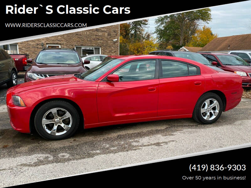 2012 Dodge Charger for sale at Rider`s Classic Cars in Millbury OH