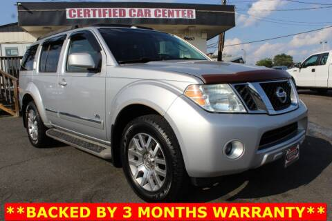 2008 Nissan Pathfinder for sale at CERTIFIED CAR CENTER in Fairfax VA