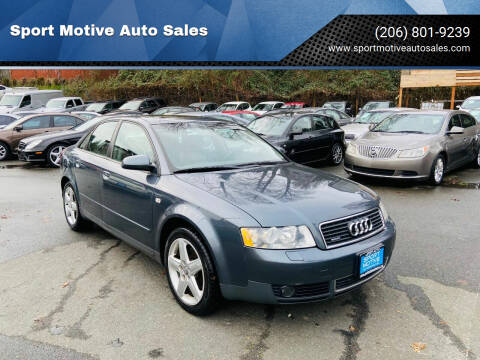 2004 Audi A4 for sale at Sport Motive Auto Sales in Seattle WA