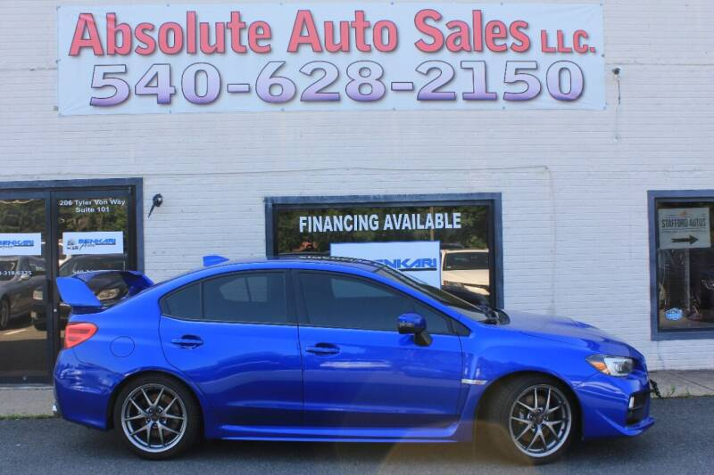2017 Subaru WRX for sale at Absolute Auto Sales in Fredericksburg VA