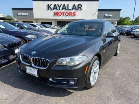 2015 BMW 5 Series for sale at KAYALAR MOTORS in Houston TX