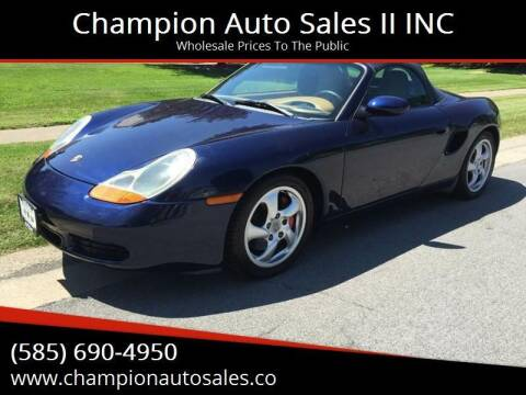 2001 Porsche Boxster for sale at Champion Auto Sales II INC in Rochester NY