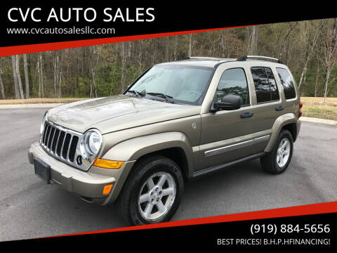 2006 Jeep Liberty for sale at CVC AUTO SALES in Durham NC