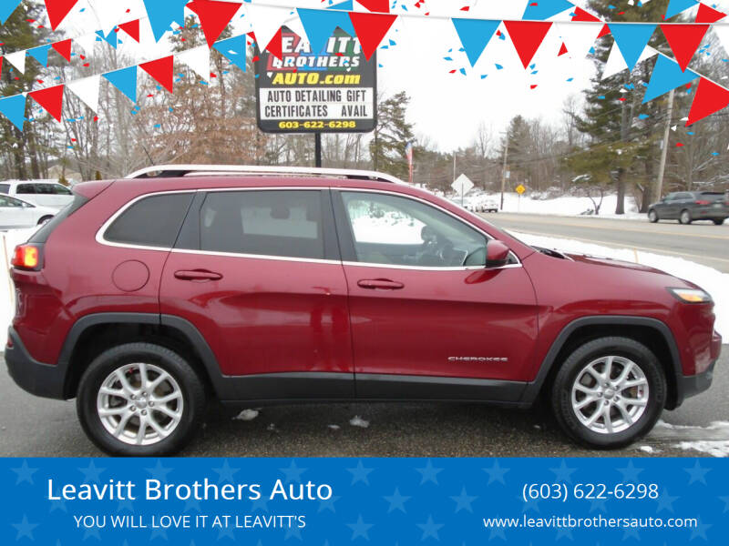 2015 Jeep Cherokee for sale at Leavitt Brothers Auto in Hooksett NH