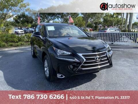 2015 Lexus NX 200t for sale at AUTOSHOW SALES & SERVICE in Plantation FL