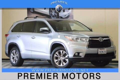 2015 Toyota Highlander for sale at Premier Motors in Hayward CA