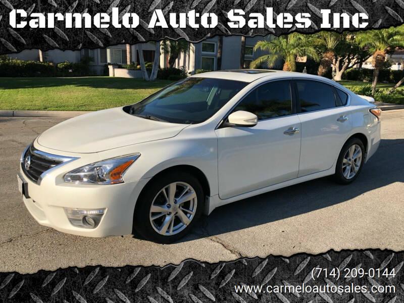 2013 Nissan Altima for sale at Carmelo Auto Sales Inc in Orange CA