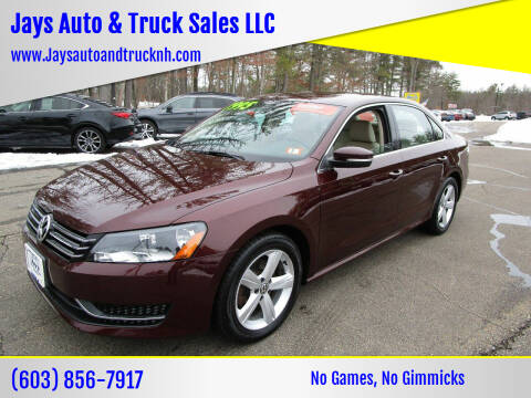 2013 Volkswagen Passat for sale at Jays Auto & Truck Sales LLC in Loudon NH
