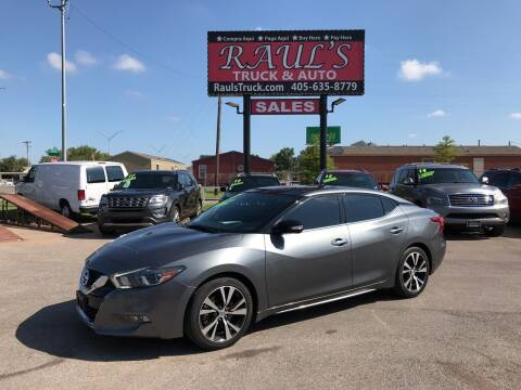 2017 Nissan Maxima for sale at RAUL'S TRUCK & AUTO SALES, INC in Oklahoma City OK
