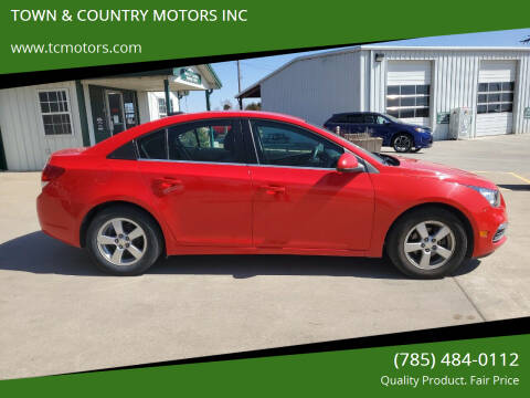 2015 Chevrolet Cruze for sale at Town & Country Motors Inc. in Meriden KS