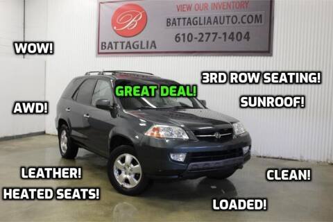 2003 Acura MDX for sale at Battaglia Auto Sales in Plymouth Meeting PA