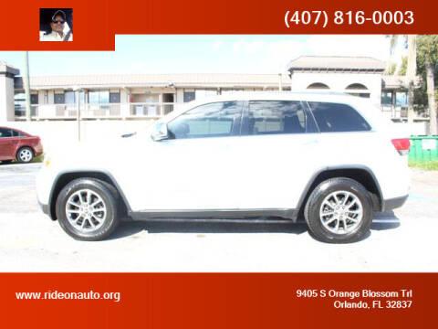 2014 Jeep Grand Cherokee for sale at Ride On Auto in Orlando FL