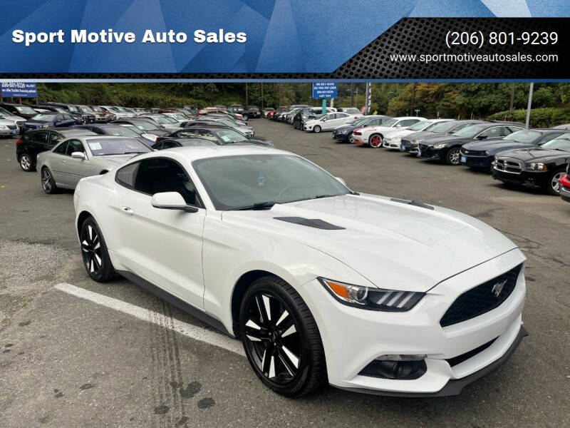 2015 Ford Mustang for sale at Sport Motive Auto Sales in Seattle WA