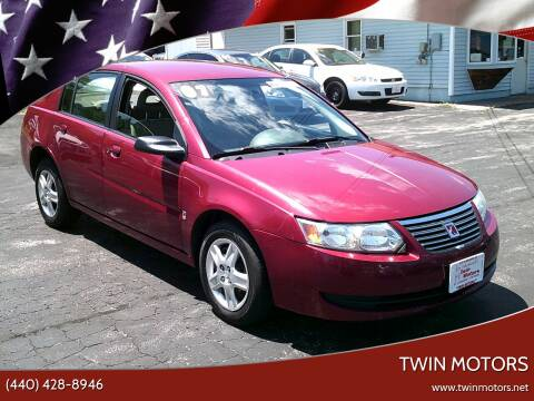 2007 Saturn Ion for sale at TWIN MOTORS in Madison OH