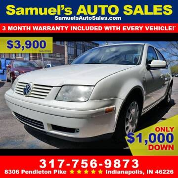 2003 Volkswagen Jetta for sale at Samuel's Auto Sales in Indianapolis IN