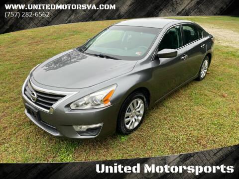 2015 Nissan Altima for sale at United Motorsports in Virginia Beach VA