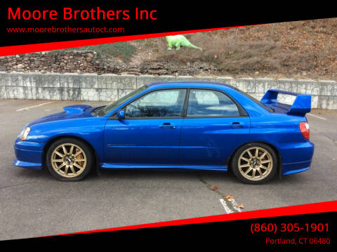 2004 Subaru Impreza for sale at Moore Brothers Inc in Portland CT