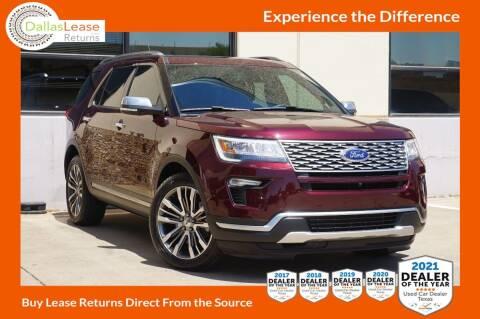 2018 Ford Explorer for sale at Dallas Auto Finance in Dallas TX