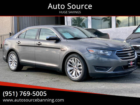 2013 Ford Taurus for sale at Auto Source in Banning CA