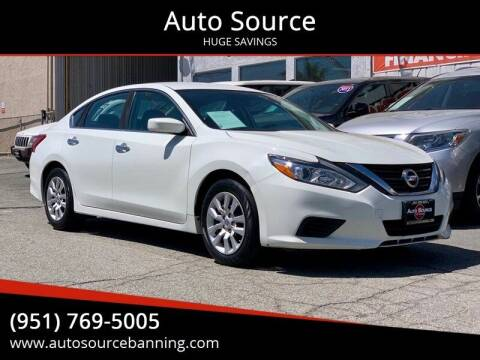 2016 Nissan Altima for sale at Auto Source in Banning CA
