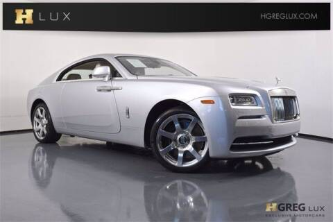 2015 Rolls-Royce Wraith for sale at HGREG LUX EXCLUSIVE MOTORCARS in Pompano Beach FL