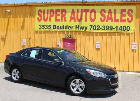 2015 Chevrolet Malibu for sale at Super Auto Sales in Las Vegas NV