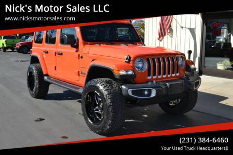 2020 Jeep Wrangler Unlimited for sale at Nick's Motor Sales LLC in Kalkaska MI