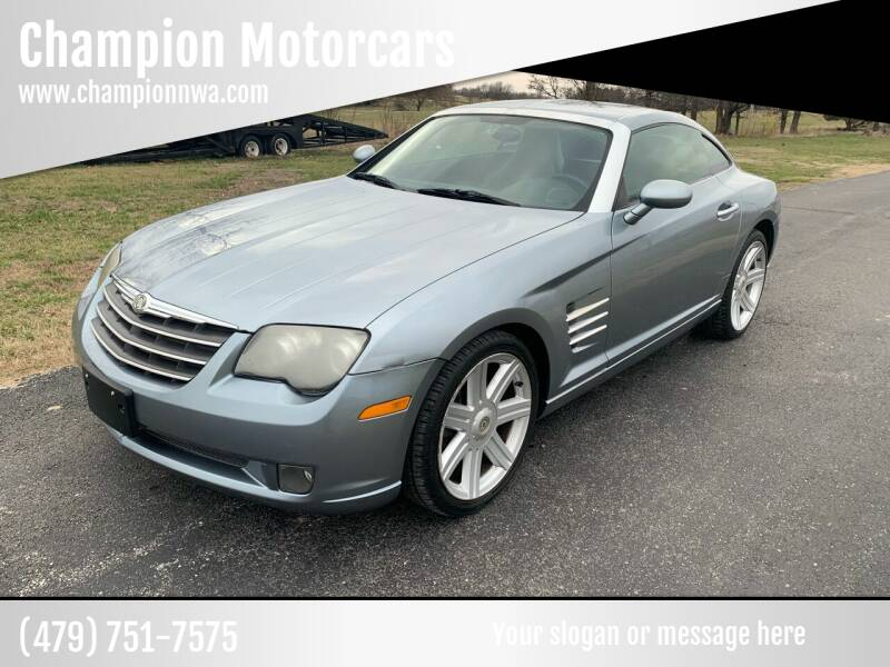 2005 Chrysler Crossfire for sale at Champion Motorcars in Springdale AR