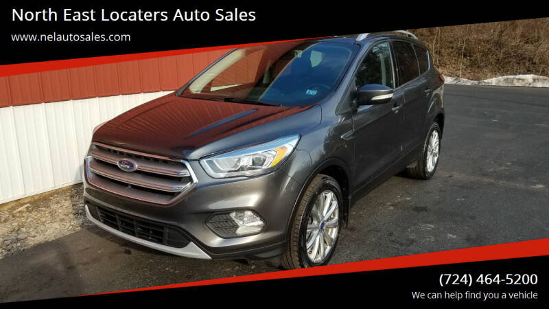 2017 Ford Escape for sale at North East Locaters Auto Sales in Indiana PA